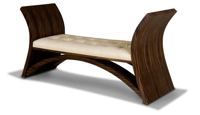 Lotus Bench Macassar Ebony Wood