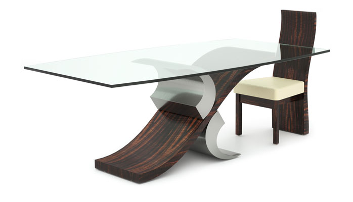 Andrew Muggleton Furniture Design Dining Tables : Wave Dining Table withchair 400H from www.andrewmuggleton.com size 698 x 400 jpeg 24kB